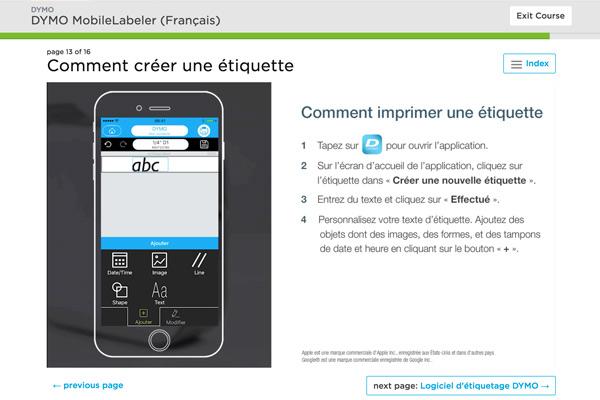 Dymo MobileLabeler eLearning